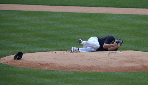 【動画】田中将大にスタントンの打球が頭部直撃!ケガや後遺症は大丈夫?
